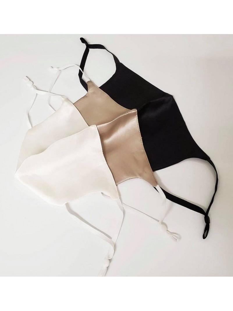 Accueil Lot de 3 masques de protection en soie : blanc, gold, noir -- HouseOfPeople.fr
