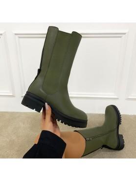 Accueil Chaussures Bottines Tania Khaki -- HouseOfPeople.fr