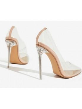 Chaussures femmes escarpins transparents talon aiguille bout pointue PLEXIS