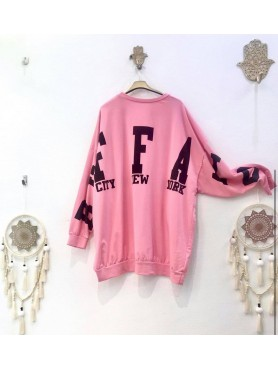 Accueil PULL SWEET OVERSIZE ECRITURE BUFFALO ROSE TAILLE UNIQUE -- HouseOfPeople.fr