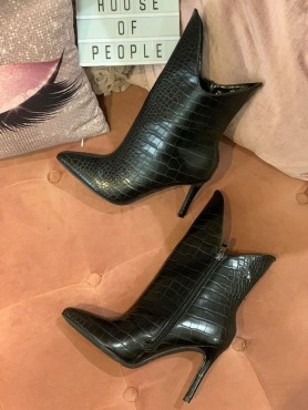 BOTTINES Chaussures bottines croco noir taille 37 -- HouseOfPeople.fr