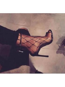 Accueil Chaussures femme bottines plexis transparantes talon haut taille 37/38/39/40 -- HouseOfPeople.fr