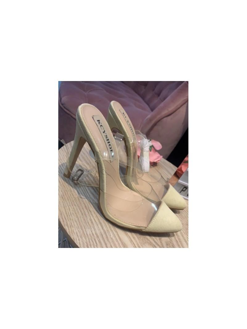 Accueil Chaussures femme escarpins talons hauts nude et plexis destockage taille 37 -- HouseOfPeople.fr