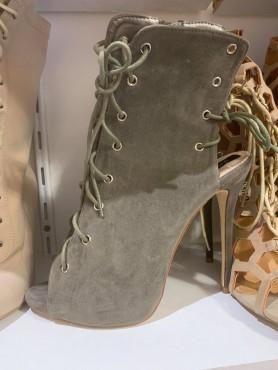 Chaussures bottes bottines khaki talon haut taille 40/ 41