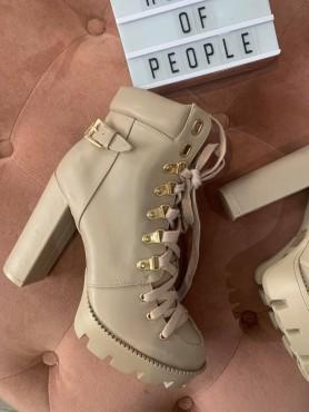 Chaussures pour femme botte bottines platform à lacets talons hauts destockage taille 39