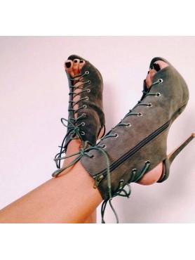 Accueil Chaussures bottes bottines khaki talon haut taille 40/ 41 -- HouseOfPeople.fr