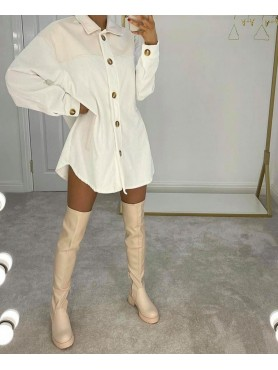 Accueil Chaussures pour femmes bottes cuissardes nude beige destockage taille 39 -- HouseOfPeople.fr