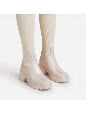 Accueil Chaussures femme bottes cuissardes chaussettes nude beige destockage taille 40 -- HouseOfPeople.fr
