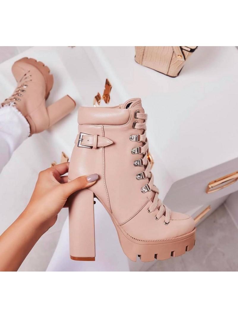 Accueil Chaussures pour femme botte bottines platform à lacets talons hauts destockage taille 39 -- HouseOfPeople.fr