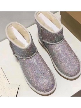 Chaussures femme bottes bottines strass diamond destockage taille 36