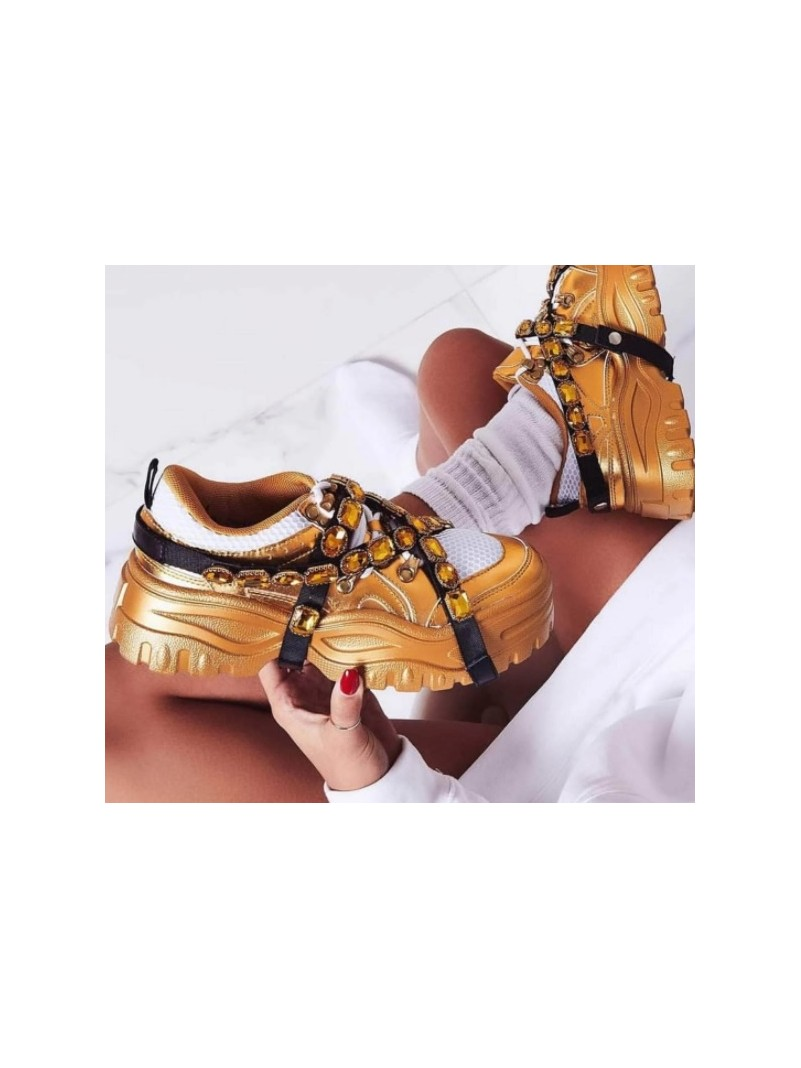 CHAUSSURES BASKET JEWELS GOLD -- HouseOfPeople.fr