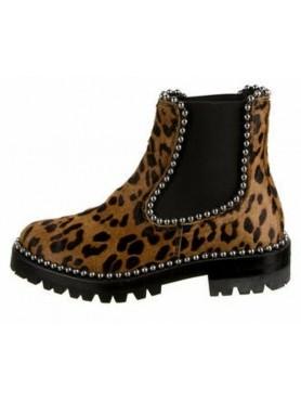 Accueil Chaussures pour femmes bottes bottines cuir et poil leopard destockage en taille 40 -- HouseOfPeople.fr