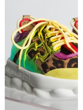 Baskets leopard et jaune
