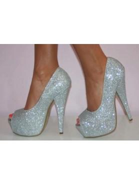 copy of Chaussures pour femme talon haut platform argent destockage en taille 40