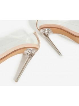 Accueil Chaussures femmes sabots transparents talon aiguille mules PLEXIS Destockage en taille 36/37 -- HouseOfPeople.fr