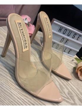 copy of Chaussures femmes escarpins transparents talon aiguille bout pointue