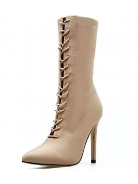 copy of Chaussures femme bottines à lacets nude destockage en taille 39