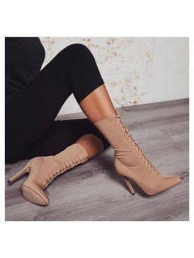 BOTTINES A LACETS NUDE KIM