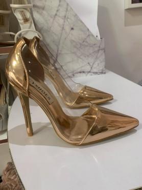 Accueil Chaussures pour femme escarpin en plexis transparent or rose gold destockage en taille taille 36 -- HouseOfPeople.fr