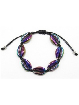 Accueil Bracelet coquillage PURPLE METALLIQUE -- HouseOfPeople.fr