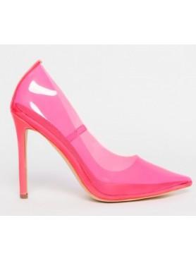 copy of Chaussures pour femme talon haut plexis rose destockage taille 36
