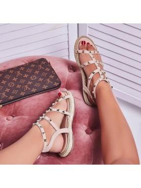 Sandales beige cordelia