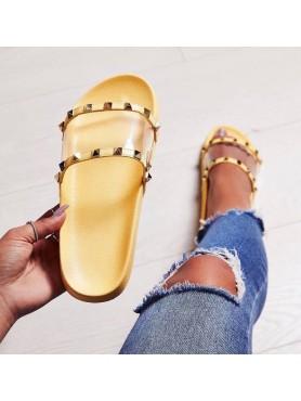 Claquettes Jessica jaune