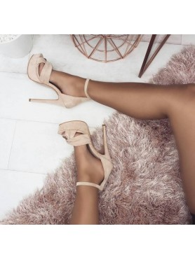 copy of Chaussures femme talon haut platform beige destockage taille 39 et 40