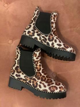 Bottines léopard clair