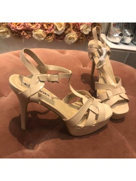 Sandales à platform nude