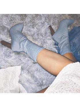 copy of Chaussures femme bottes bottines denim talon epais en bois destockage taille