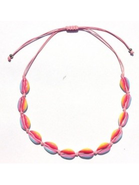 Accueil Collier coquillage RAINBOW ROSE -- HouseOfPeople.fr