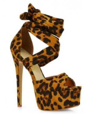 Platform Foulard leopard