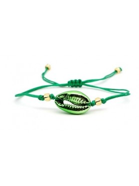Accueil Bracelet coquillage SINGLE VERT METALLIQUE -- HouseOfPeople.fr