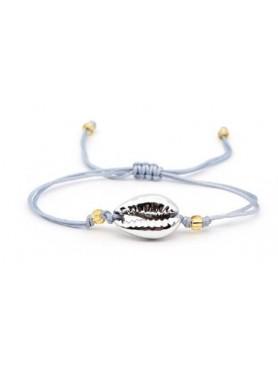 Accueil Bracelet coquillage SINGLE GRIS METALLIQUE -- HouseOfPeople.fr