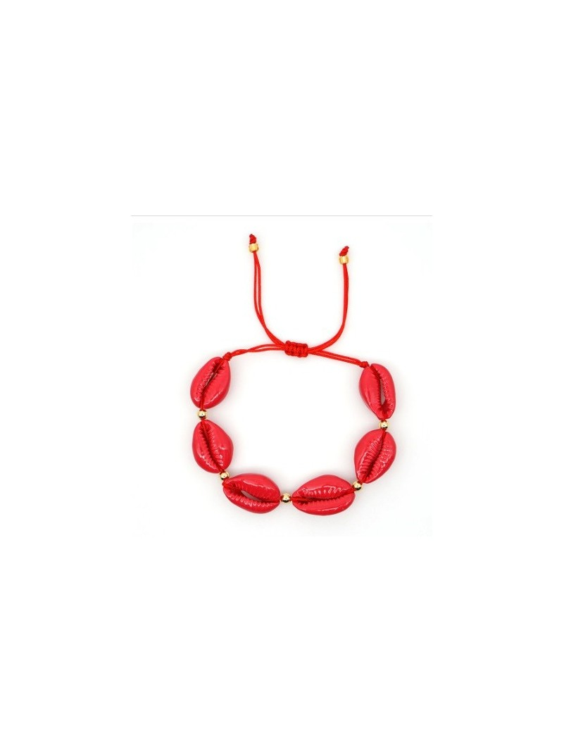 Accueil Bracelet coquillage ROUGE -- HouseOfPeople.fr