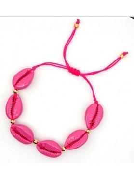 Accueil Bracelet coquillage ROSE FUSCHIA -- HouseOfPeople.fr