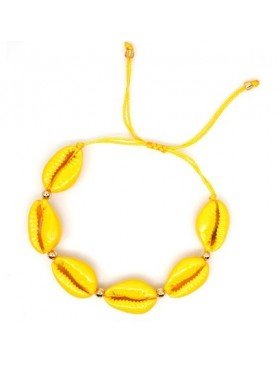 Accueil Bracelet coquillage JAUNE FONCE -- HouseOfPeople.fr