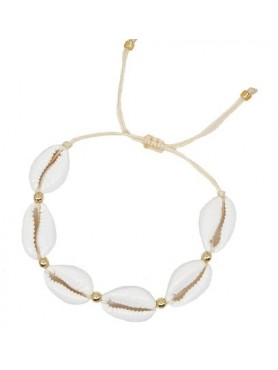 Accueil Bracelet coquillage BLANC -- HouseOfPeople.fr