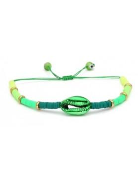 Accueil Bracelet perles et coquillage VERT -- HouseOfPeople.fr