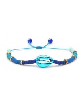 Accueil Bracelet perles et coquillage BLEU -- HouseOfPeople.fr