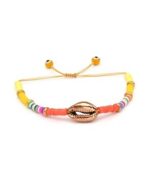Accueil Bracelet perles et coquillage ORANGE -- HouseOfPeople.fr