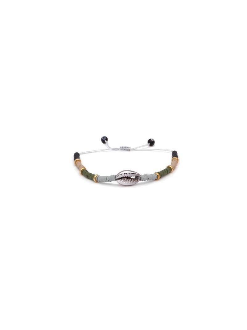 Accueil Bracelet perles et coquillage GRIS -- HouseOfPeople.fr
