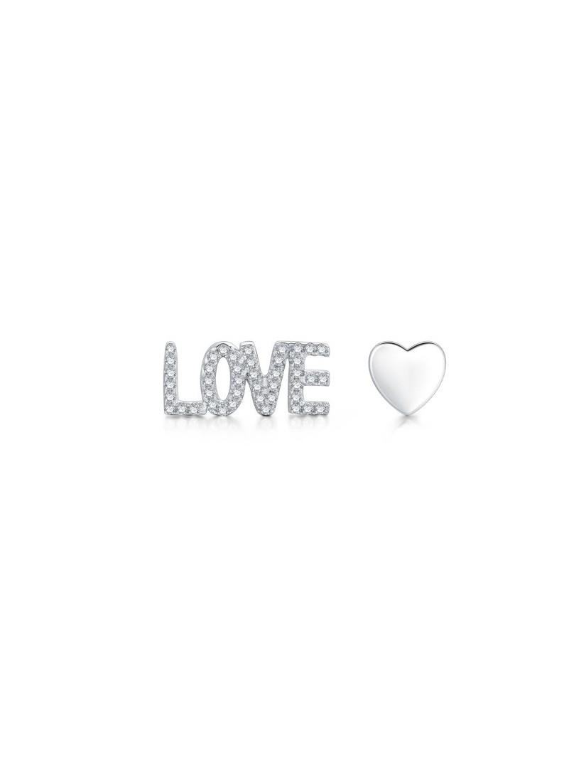 Accueil Boucles d'oreilles LOVE en argent -- HouseOfPeople.fr