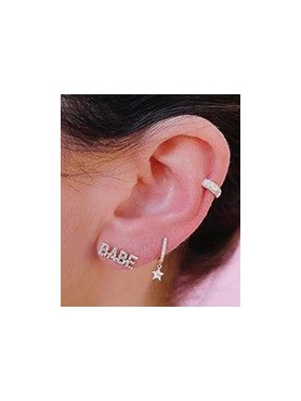 Accueil Boucles d'oreilles BABE en argent -- HouseOfPeople.fr