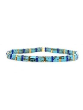 Accueil Bracelets Boho pierre plates BLUE LAGON -- HouseOfPeople.fr