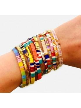 Bracelets Boho pierre plates ORANGE