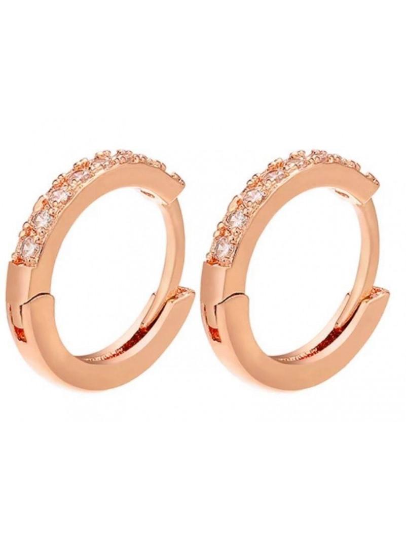 Accueil Boucle d'oreille anneau OR rose -- HouseOfPeople.fr