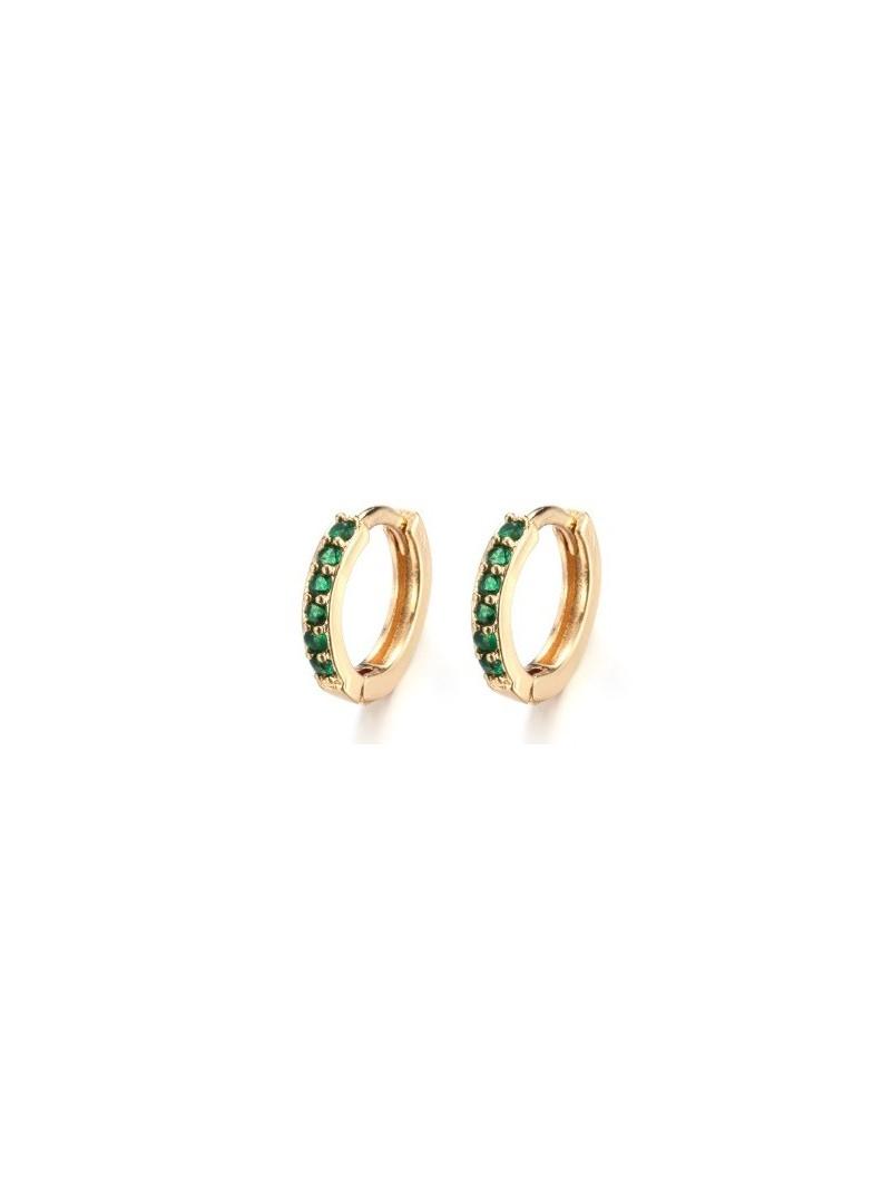 Accueil Boucle d'oreille anneau emeraude -- HouseOfPeople.fr