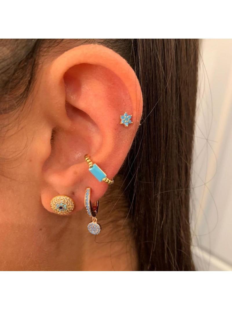 Accueil Bague d'oreille anneau or et pierre turquoise -- HouseOfPeople.fr